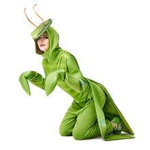 Umorden Fantasia Purim cadılar bayramı kostümleri Unisex erkekler kadınlar dua Mantis kostüm yeşil böcek performans takım elbise