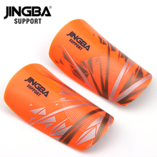 лучшая цена JINGBA SUPPORT 1 Pair Child Adult Soccer Protective shin guards protege tibia Shin Pads Supporting Sport Safety Shin Guard Calf