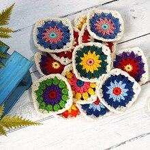 Handmade Original 9cm Trade Hand Crochet Doilies Pad Handmade Cup Mat Photo Props Placemat Decorative Mat 30pcs