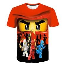 2020 Summer Anime 3D cartoon tee Baby Boy  Clothes Kids lovely Ninja Clothes Ninjago t shirt Children Clothing  Boy  Girls shirt
