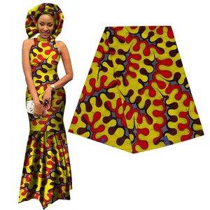 Image 4 - Elegante tela africana Ankara estampada Batik garantizado Real Wax Patchwork para mujeres fiesta manualidades para vestido 100% algodón de la mejor calidad