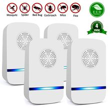 4 pcs Household Pest Rejector Ultrasonic mosquito repellent electric pest control repellents for Rats Spiders flies