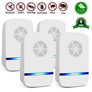 Image 1 - 4 pcs Household Pest Rejector Ultrasonic mosquito repellent electric pest control repellents for Rats Spiders flies