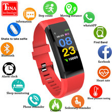 Original IT120 pulsera inteligente Color pantalla deportes banda inteligente Monitor de ritmo cardíaco rastreador de actividad para IOS Android VS ID115 PLUS y5(China)