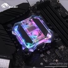 Bykski CPU XPH T8 CPU su soğutma bloğu Intel Lga115x/2011/2066 RGB/RBW aydınlatma mekanik tereyağı sistemi Microwaterway I7
