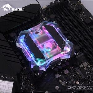 Image 1 - Bykski CPU XPH T8 CPU su soğutma bloğu Intel Lga115x/2011/2066 RGB/RBW aydınlatma mekanik tereyağı sistemi Microwaterway I7