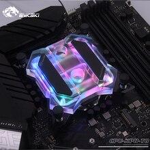 Bykski CPU XPH T8 wodny blok chłodzący CPU dla Intel Lga115x/2011/2066 RGB/RBW oświetlenie mechaniczny System masła Microwaterway I7