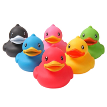 Kids Baby Children Bathing Fun Entertainment Play Cute Rubber Squeaky Duck Funny Toys Gift Pack of 6 PCS