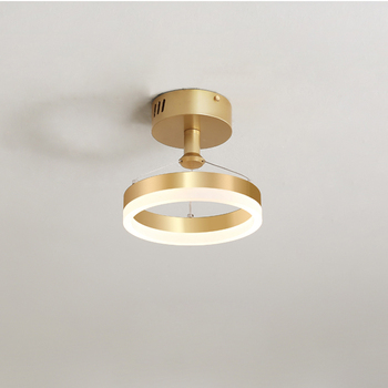 Round aisle lights Nordic golden light luxury modern corridor balcony porch ceiling lamp personality creative cloakroom lamp