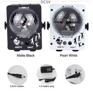 Image 2 - Luz LED de escenario RGB Luz Láser De discoteca, lámpara de bola para discoteca, proyector activado con sonido para salas de baile, bares, Fiestas y Navidad