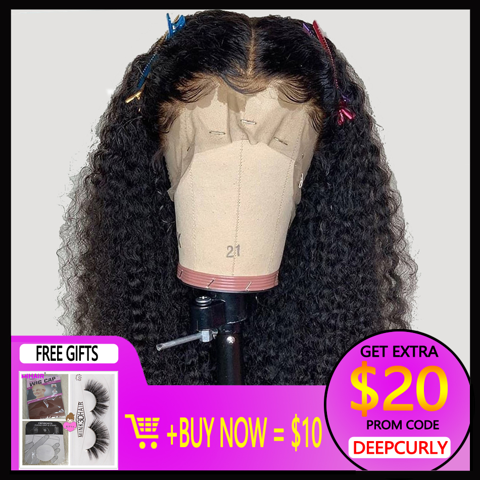 Pre Plucked 13*4 Lace Front Human Hair Wigs Brazilian Remy Hair Wig Curly Glueless Lace Wigs With Baby Hair Natural Color
