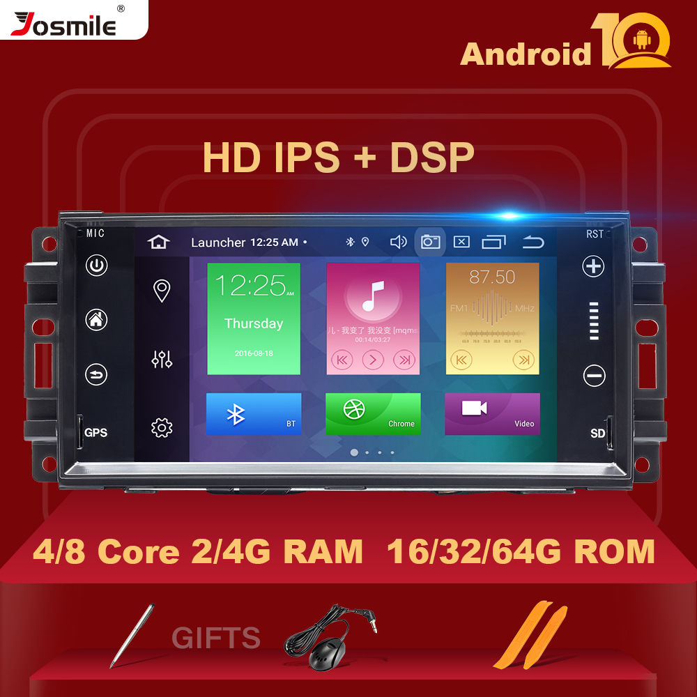 <font><b>1Din</b></font> Android 10 <font><b>Car</b></font> <font><b>Multimedia</b></font> Radio For Jeep Grand Cherokee Chrysler 300C Compass Patriot DodgeSebring GPS NavigationStereo 4GB image