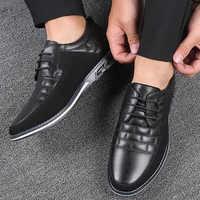 Oxfords Leder Männer Schuhe Mode Casual Slip Auf Wohnungen Männlichen Turnschuhe Männer Trainer Schuhe Fahren Mokassins Chaussure Homme Cuir