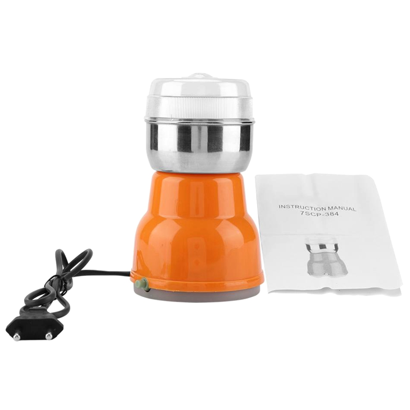 HOT!-Electric Stainless Steel Coffee Bean Grinder Home Grinding Milling Machine Coffee Accessories-Eu Plug
