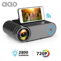 AAO YG420 Mini LED 720 P projecteur natif 1280x720 Portable sans fil WiFi Multi écran vidéo projecteur YG421 3D VGA HDMI Proyector
