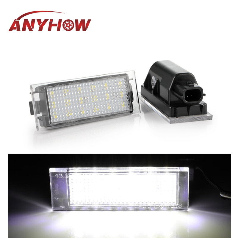 2PCS Car <font><b>LED</b></font> License Plate Light For <font><b>Renault</b></font> Megane 2 Clio Laguna 2 Megane <font><b>3</b></font> Twingo <font><b>Master</b></font> Vel Satis Opel Movano Number Lamps image