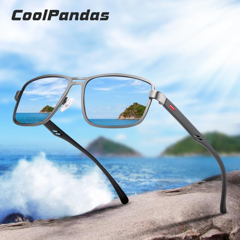 Солнцезащитные очки с квадратной оправой, поляризационные очки с защитой от УФ-лучей для вождения, 2020
