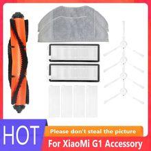 Kit de filtro escova lateral para xiaomi mijia g1 acessórios aspirador pó mop pano rolo escova fígado filtro peças reposição
