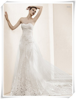 free shipping casamento Cheap vestido de noiva 2016 new fashion hot romantic appliques bride mermaid wedding dress bridal gown