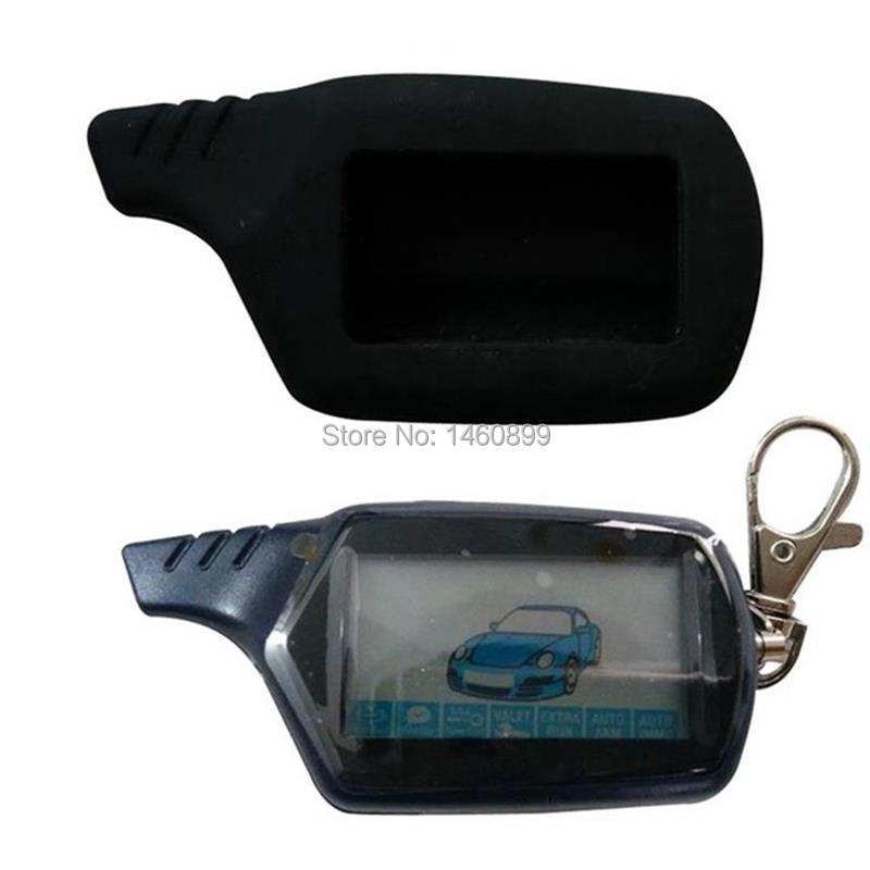 10PCS Lot B9 Russian LCD Engine Start Remote Control   Silicone Case For Two Way Car Alarm Starline B9 Twage Key Keychain 10 PCS