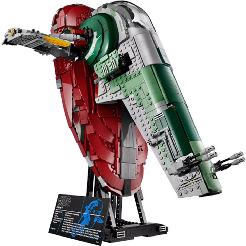 Fit lepining Starwars 75060 UCS Slave I <font><b>05037</b></font> Creator Empire Strikes Back Technic Lepinblocks Toys Christmas Gifts DHL 81039 image
