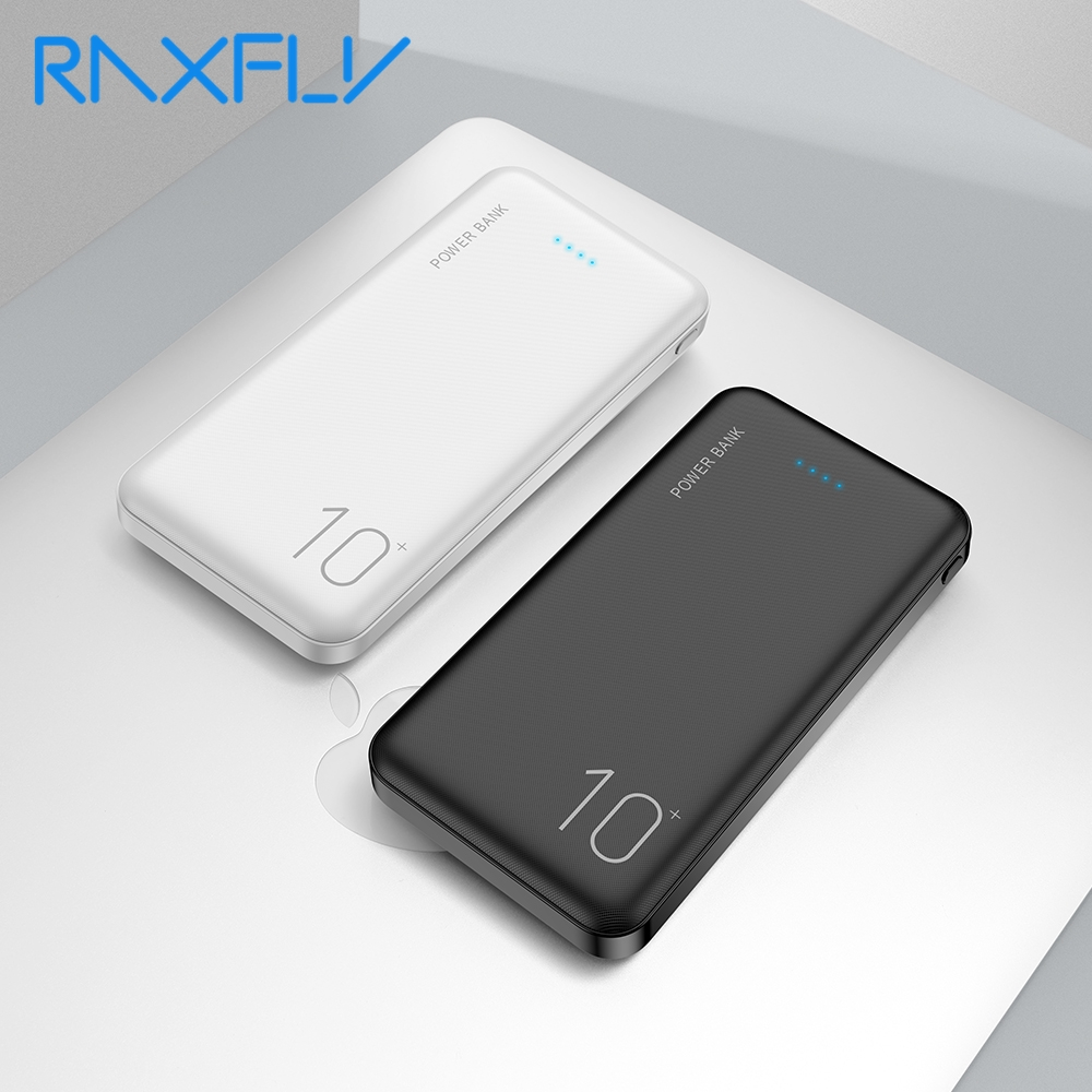 RAXFLY Power Bank 10000mAh Powerbank For Xiaomi Mi Power Bank External Battery Mobile Portable Charger LED Poverbank Power Bank