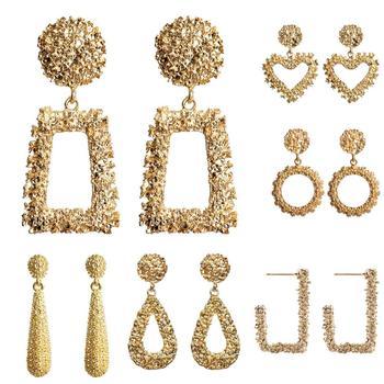 Women Earrings Girls Exaggerated Modern Fashion Drop Hanging Dangle Earring Jewelry Vintage Trend Pendant Geometric 1