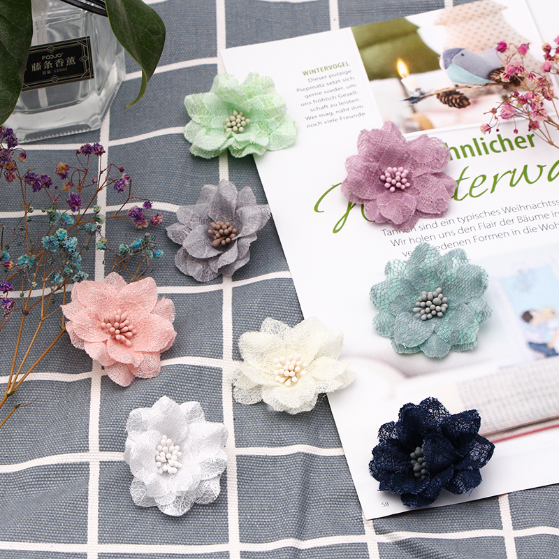 6 шт. цветы 3D цветы, кружевное платье, декоративная кружевная ткань, аппликация, обрезка, швейные принадлежности «сделай сам», швейное ремесл...