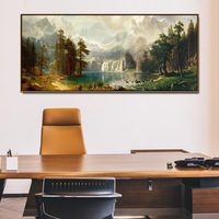 Modern Library Landscape Painting Cornucopia Office Hanging Painting Company Lucky Feng Shui Paintings Living Room Hanging Paint