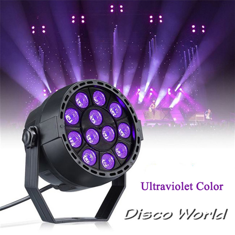 New 12x3W LED Par Lights With Ultraviolet Color Kill Virus DMX512  Stage Lighting For DJ Club Dance Music Party Floor UV Par
