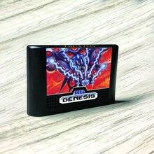 "Truxton ארה""ב תווית Flashkit MD Electroless זהב PCB כרטיס עבור Sega Genesis Megadrive וידאו קונסולת משחקים"