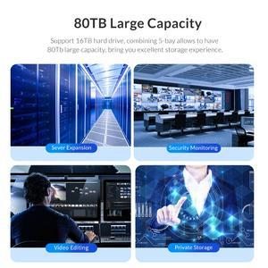 Image 5 - オリコ 80 テラバイト 5 ベイ企業 hdd ドッキングステーションデュアルチップ 150 ワット内蔵電源ハードドライブケースのための 2.5 3.5 インチハードドライブ