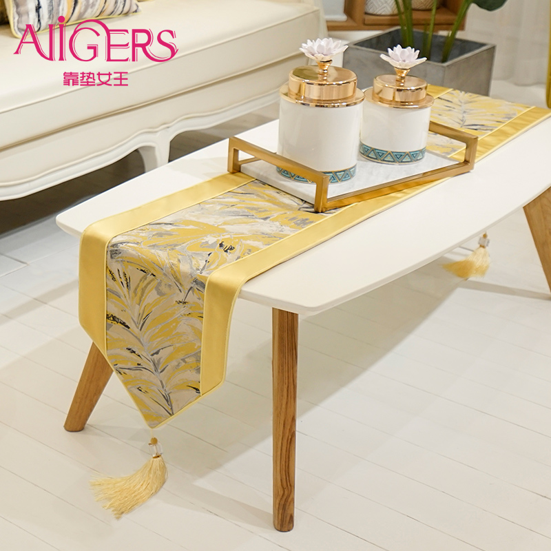 Avigers Luxury Modern Yellow Table Runners Home Decorative For Wedding Party Home Hotel