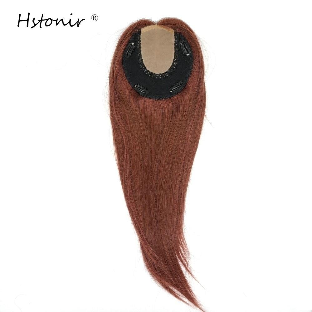 Hstonir European Remy Hair Topper Kosher Toupee 6x6