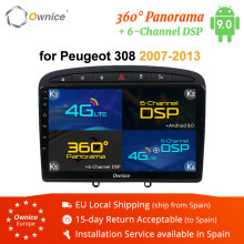 Ownice 2 din Auto dvd Player Android 9.0 Autoradio-Player für PEUGEOT 308 408 2008 2009 2010 2011 k3 k5 k6 GPS Navigation 4G LTE(China)