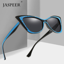 JASPEER Cat Eye Shade for Women Retro Sunglasses Female Diamond Vintage Party Sun glasses UV400 Glasses