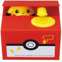 Pokemon pikachu banco anime caixa de dinheiro eletrônico roubar moeda caixa de dinheiro seguro figura de ação menino brinquedos bancários para o presente do miúdo