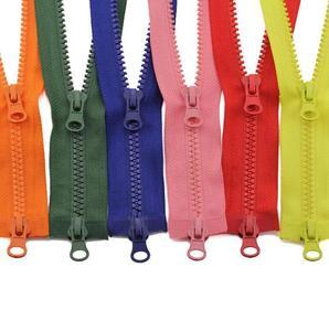 1 Pc Resin Zipper No. 5 Down Jacket Double Zipper Clothes Long Zipper Accessories Sleeping Bag Two-Way Double Open Zipper Head