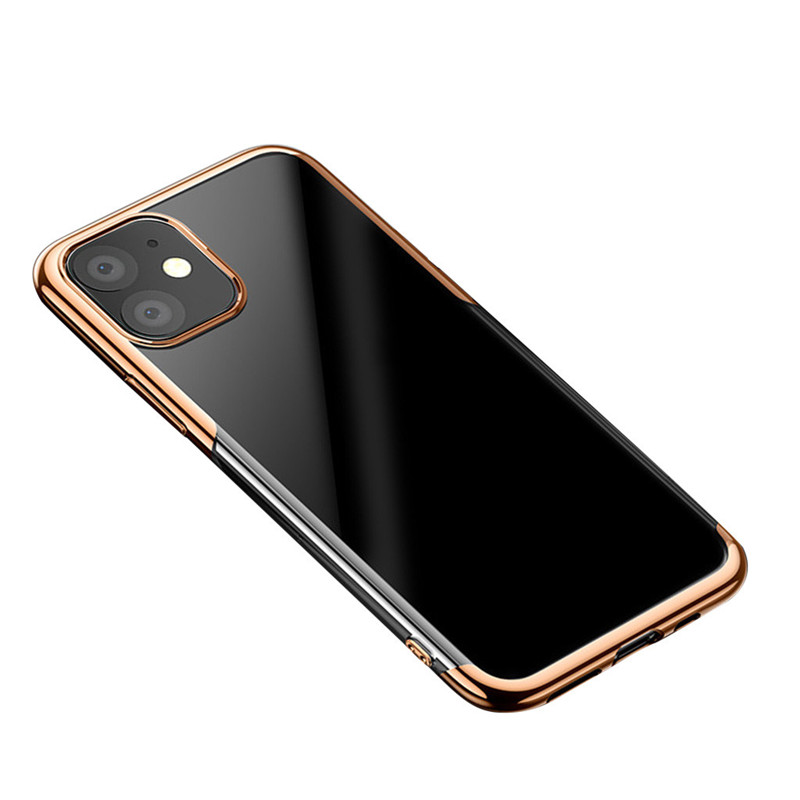 Clear Case Cover For Iphone 11 For Iphone 11 Pro For Iphone 11 Pro Max Case Ultra-Thin Clear Soft TPU Plating Shock Absorption (US STOCK)