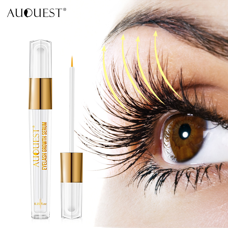 AuQuest Natural Eyelash Growth Serum Fuller Darker Longer Lashes Extensions Eyelash Enhancer Lash Essence Beauty Eye Care