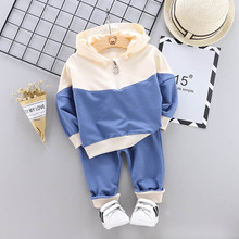 Toddler Girl Hooded Sweatshirt Clothing Set Boys Fashion Baby Boy Casual Set Spring Autumn Boys Girls Clothes 1 2 3 4 Year cheap Kabeier CN(Origin) Sets Pullover KB8032 Cotton Unisex Full Regular Fits true to size take your normal size Coat Patchwork