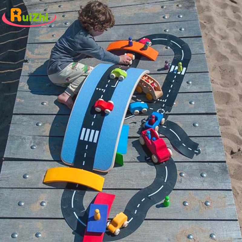 Ruizhi Children DIY Splicing Track Puzzle Highway Stitching Prop Traffic Roadway Accessories Scene Building Toy Kids Gift RZ1171