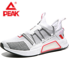 PEAK TAICHI Cushion Running Shoes For Men Lightweight Breathable Sneakers Fitness Workout Sports Shoes TAICHI Technology li ning men s cushion running shoes breathable textile sneakers support tpu lining sports shoes arhm057 xyp478