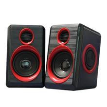 1 Pair Computer Speakers Desktop Laptop Notebook USB Powered PC Stereo Multimedia Speaker In Line Volume Control