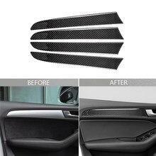 Carbon Fiber Auto Innen Tür Panel Trim Aufkleber Für Audi Q5 SQ5 8R 2009-2017 Dashboard Panel Streifen Aufkleber decor Auto Styling