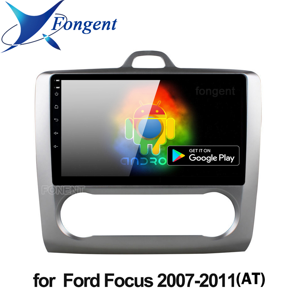 9 inch Android 9.0 Car Radio For <font><b>ford</b></font> <font><b>focus</b></font> EXI MT 2 3 <font><b>Mk2</b></font> 2004 2005 2006 2007 2008 2009 2010 2011 2Din GPS <font><b>Multimedia</b></font> Player image