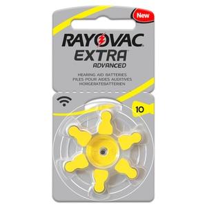 Image 2 - Hearing Aid Batteries 6 PCS / 1 card RAYOVAC EXTRA A10/PR70/PR536 Zinc Air batterie 1.45V Size 10 Diameter 5.8mm Thickness 3.6mm