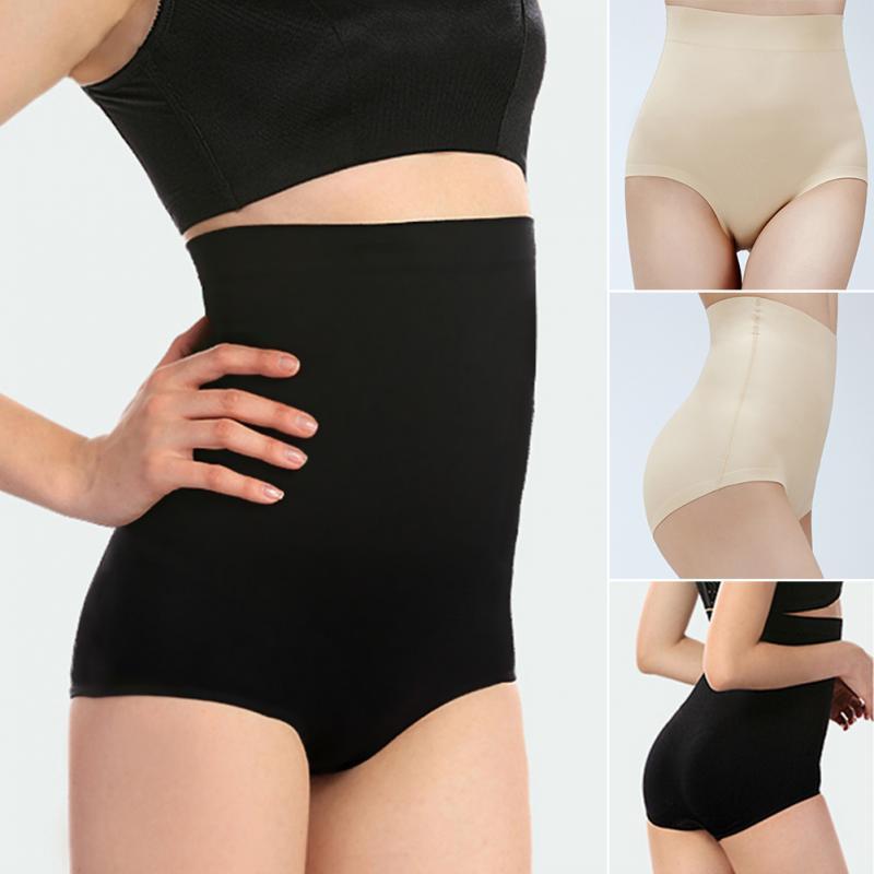 Briefs Panties Women Body-Shaper Sexy High-Waist Fashion Cotton for Fiber Tummy-Control