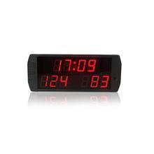 Na gorąco sprzedaży cyfrowej piłka nożna sport tablicy wyników led zegar odliczający tablice wyników multifuncion przenośny tablicy wyników tanie tanio GANXIN Wall Clocks SQUARE DIGITAL WX5D-4R 190mm 45mm Metal 460mm 1500g Cyfrowy Luminova Remote Control 2 3 46*19*4 5 cm