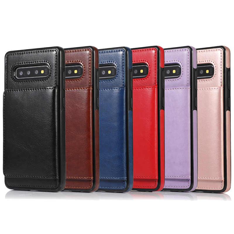 עור מקרה עבור Samsung Galaxy S20 Ultra S10 S9 S8 הערה 8 9 10 בתוספת A10 M10 A20 E A30 a40 A50 s A70 PU ארנק טלפון חזרה כיסוי